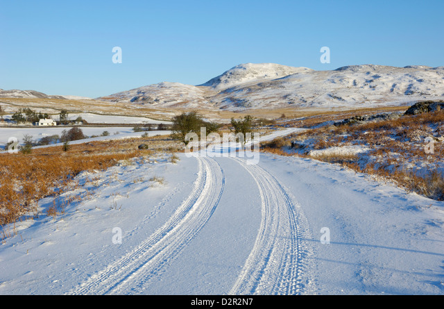 Dumfries And Galloway United Kingdom  city photos gallery : Road in winter snow, Dumfries and Galloway, Scotland, United Kingdom ...
