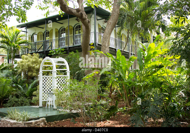 Ernest Hemingway House And Gardens. Key West, Florida.   Stock Image