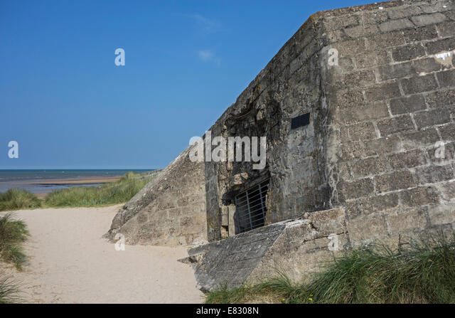 the-german-bunker-cosys-pillbox-at-juno-beach-courseulles-sur-mer ...