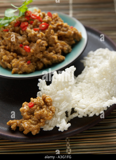A Bowl Of Thai Peanut Sauce And Rice Cakes Editorial Food Stock Image