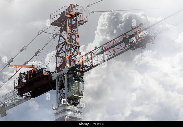Telescopic Cranes Vancouver : Mobile cranes lifting stock photos