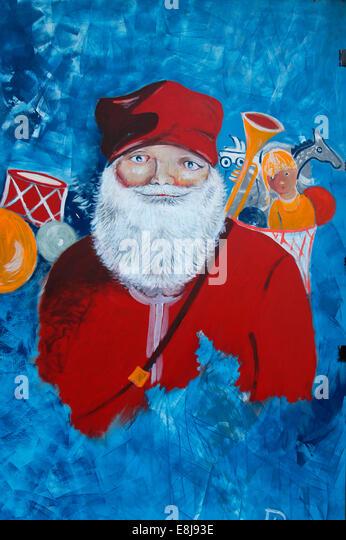 Religious christmas painting stock photos
