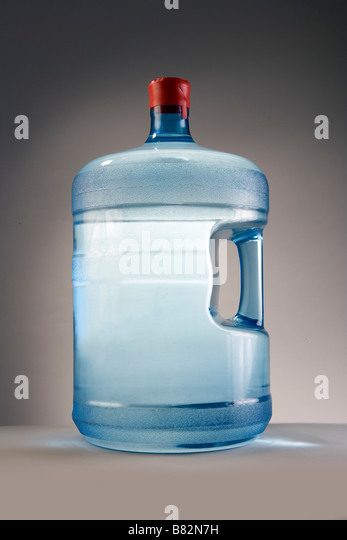 a 5 gallon water jug of spring or purified water from a commercial business stock