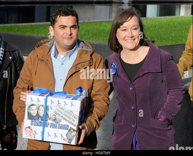 Shadow Welsh Secretary Jo Stevens Arrives At The Home Office In London With Bashir Naderi