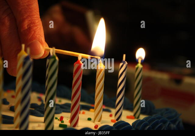 Lighting birthday candles - Stock Image & Birthday Candles Stock Photos u0026 Birthday Candles Stock Images - Alamy