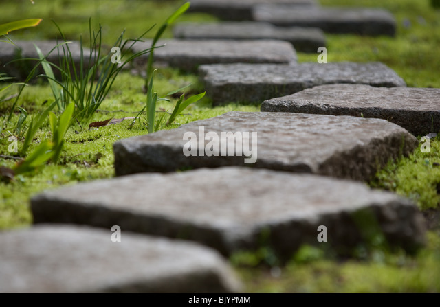 Stepping Stones In Garden.   Stock Image