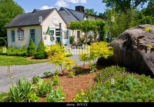 Visitor Center At The Berkshire Botanical Garden   Stock Image