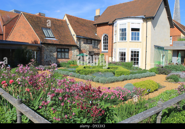 The tudor house garden southampton hampshire uk stock image