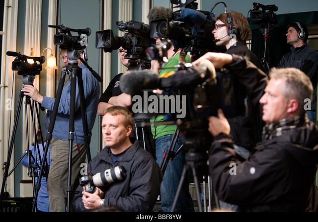 Press Photographer Tv Camera Crew Stock Photos & Press ...