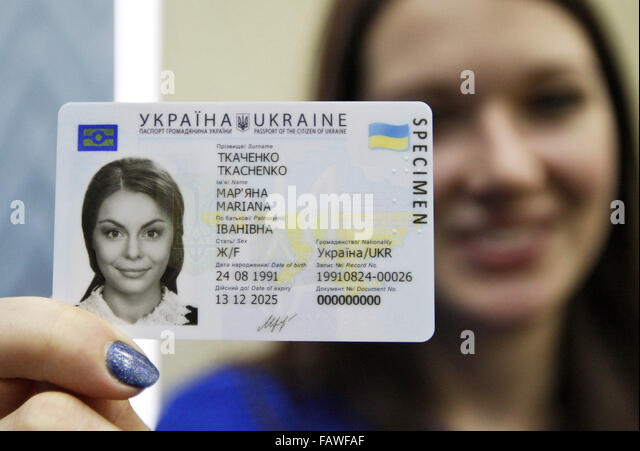 Ukraine Girl With Passport