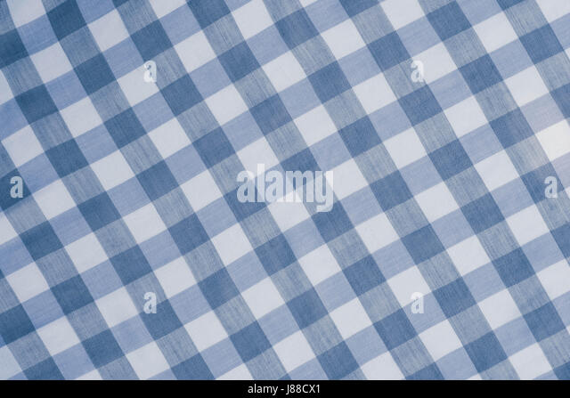 Blue Checkered Tablecloth Background Texture   Stock Image