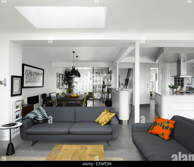 retro living room extension in high barnet family home london by paul