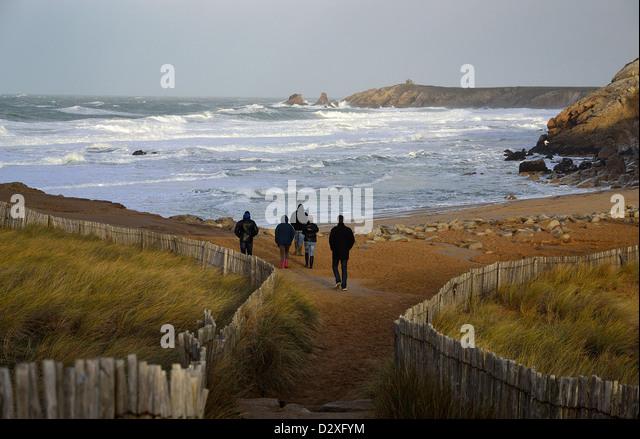 Bord de mer stock photos bord de mer stock images alamy - Camping port blanc saint pierre quiberon ...