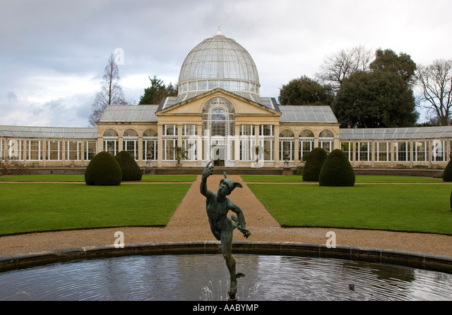 The Great Conservatory And Statue Of Mercury At Syon Park West London