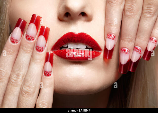 Acrylic nails salon stock photos acrylic nails salon for Acrylic nails salon