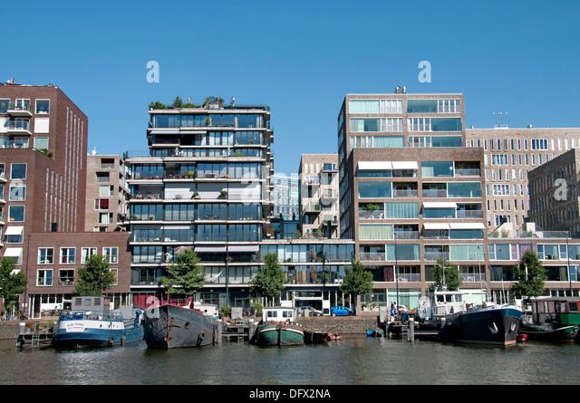 Modern Architecture Netherlands westerdock amsterdam netherlands architecture stock photos