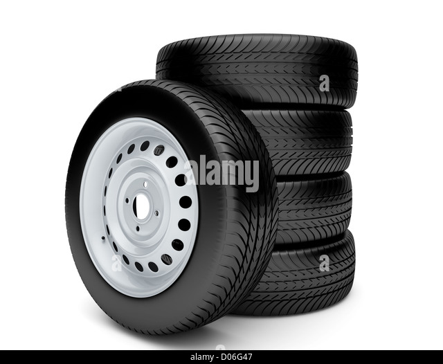 3d tires isolated on white background stock image