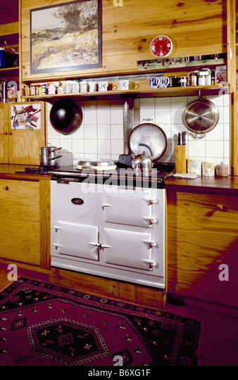 Interiors Kitchen Aga Traditional Stock Photos Amp Interiors