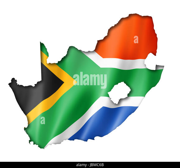 South Africa Flag Outline Stock Photos  South Africa Flag Outline