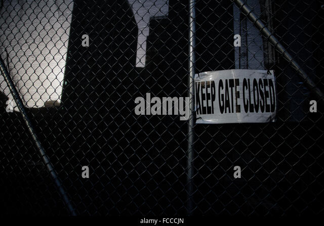 Wire mesh fence stock photos