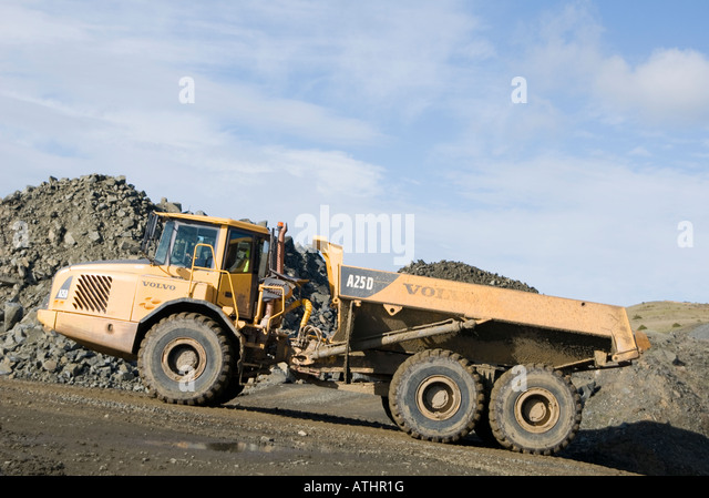 D Exhibition Zambia : Articulated dumper stock photos