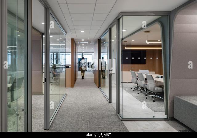 office corridor door glass. Glass Enclosed Conference Rooms Along A Corridor Leading The Open Office Desks. 280 Park Door R
