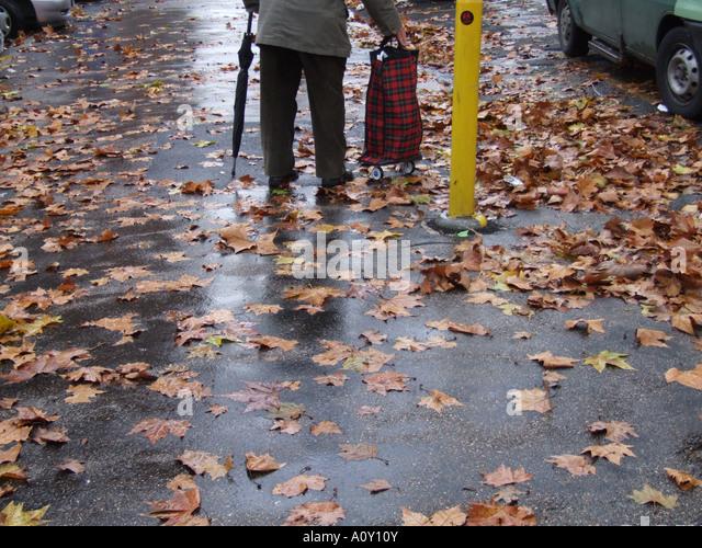 Bus Stop And Rain Man Stock Photos Bus Stop And Rain Man