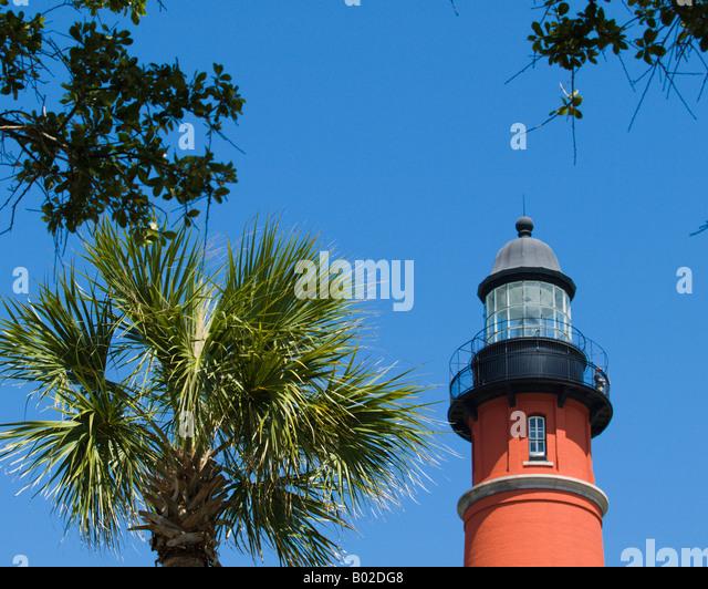 historic ponce de leon light station on the atlantic east coast of