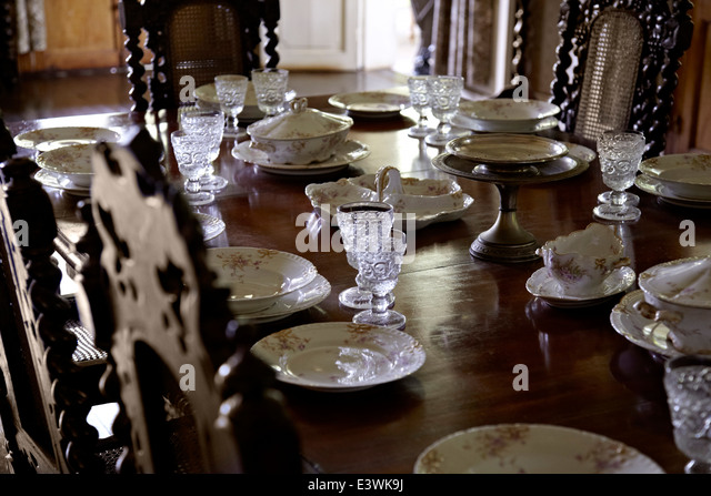 Table Laid For Dinner At La Maison Creole A French Colonial House Also  Known As Eureka