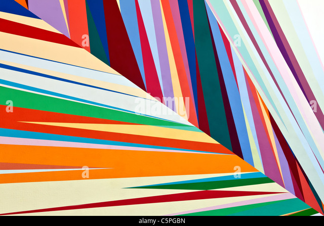 Colored bands of vertical striped lines illustration Stock Photo ...