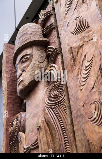 Maori carving stock photos images