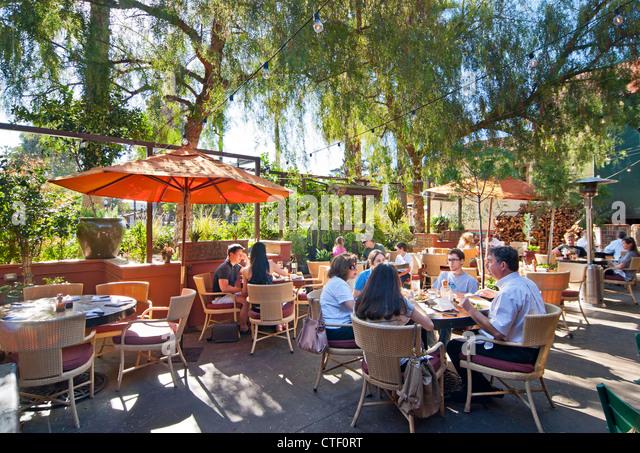 La Grande Orange Restaurant Outdoor Patio.   Stock Image