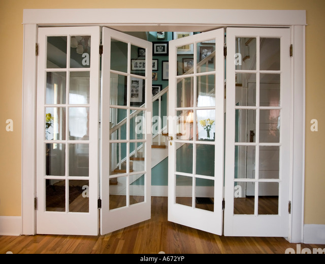 French doors stock photos french doors stock images alamy for Double open french doors