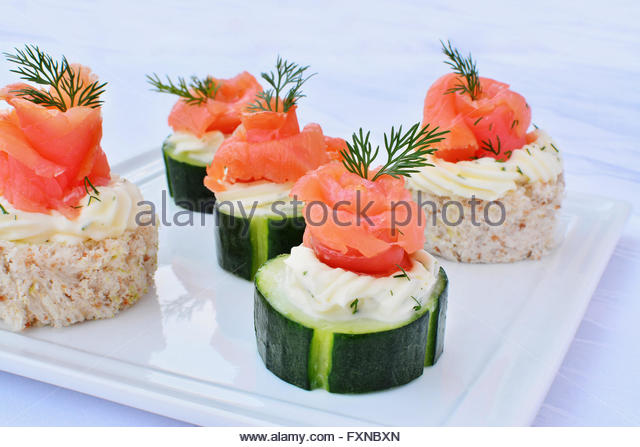 Fingerfood party stock photos fingerfood party stock for Cream cheese canape