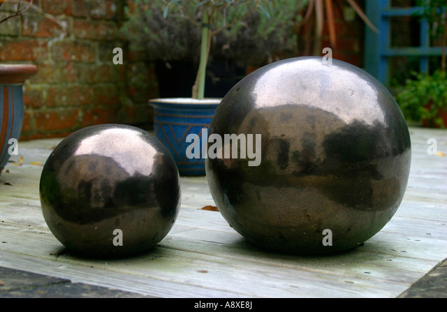 Garden Balls Decorative Beauteous Garden Decoration Wooden Balls Stock Photos & Garden Decoration Design Ideas