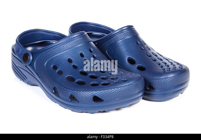 Kid Black Plastic Shoes With White Strap
