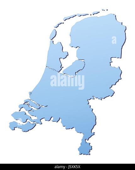 Netherlands Country Map Stock Photos  Netherlands Country Map