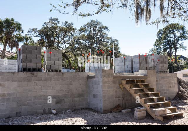 Cinder block bricks stock photos cinder block bricks for Block home builders in florida