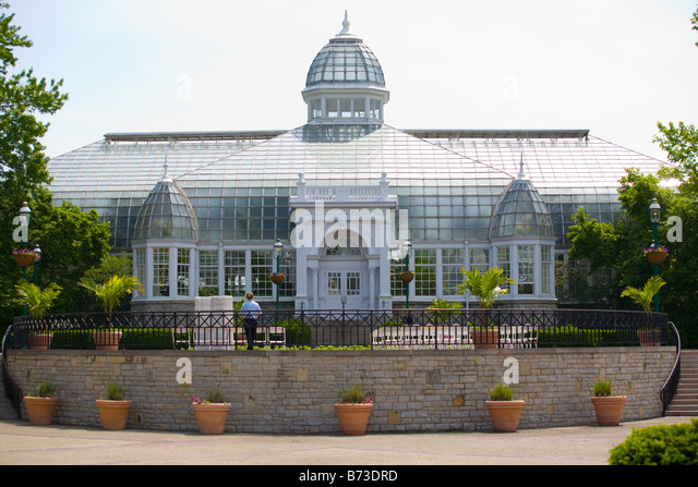 The Franklin Park Conservatory In Columbus Ohio   Stock Image