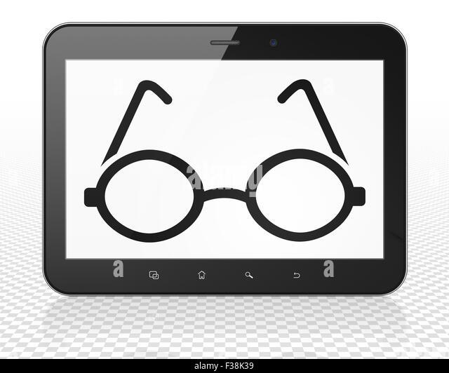 concept eye on tablet pc stock photos concept eye on