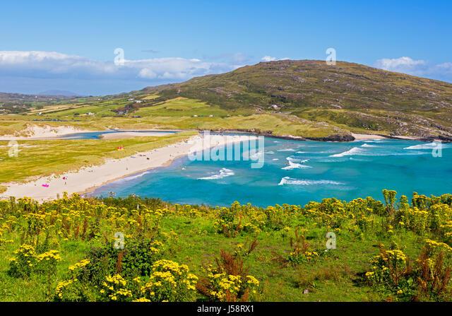 Barleycove beach, aka Barlycove beach, Wild Atlantic Coast, County Cork, Republic of Ireland.  Eire. - Stock Image