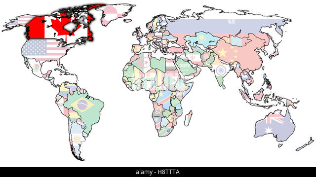 Map Flag Canada Stock Photos Map Flag Canada Stock Images Alamy - Canada map with flag