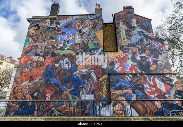 Shadwell stock photos shadwell stock images alamy for Battle of cable street mural