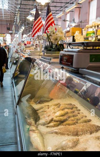Fish market stock photos fish market stock images alamy for Washington dc fish market