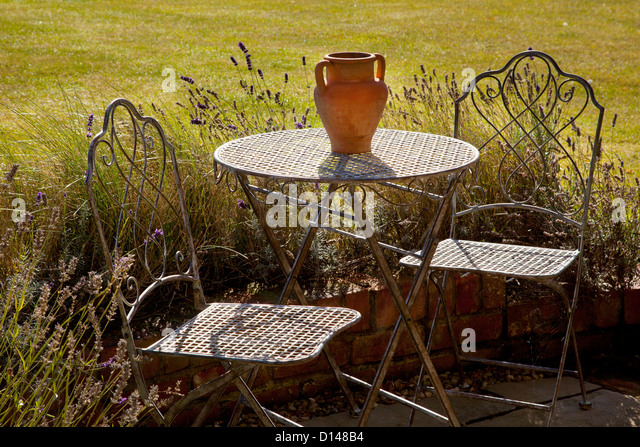 French Garden Chairs Stock Photos French Garden Chairs
