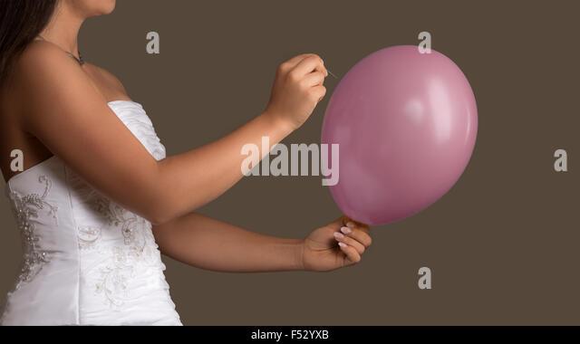 Balloon burst wedding