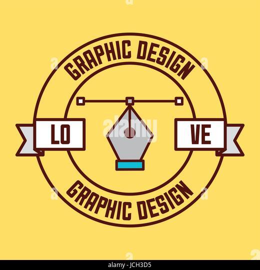logo graphic design - Stock Image
