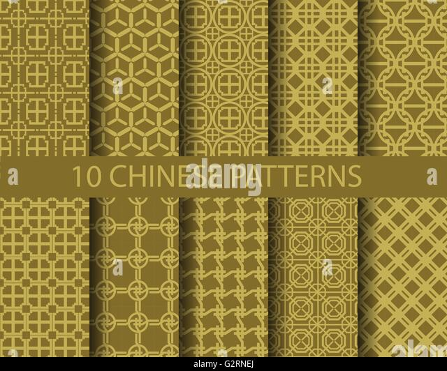 10 Different Traditional Chinese Patterns Stock Photos ...