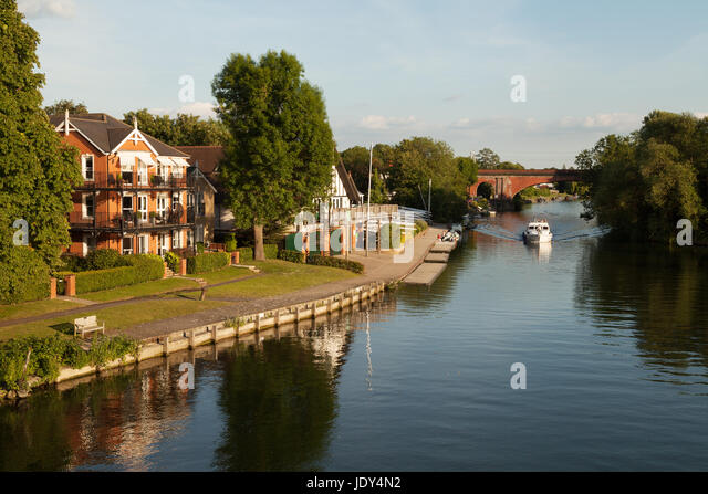 Thames River - the River Thames at Taplow, Buckinghamshire England UK - Stock Image