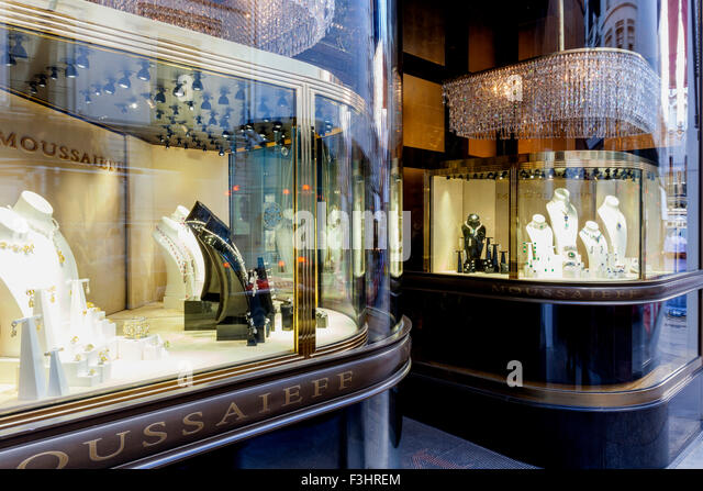 moussaieff jewellers new bond street london uk stock image